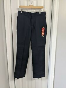 Men's NWT Dickies Pants Size 32x30 Original Fit 874 Navy Blue