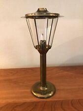 "Vintage Brass Candle Holder Spring Loaded, Lamp Lantern 13"" Tall"