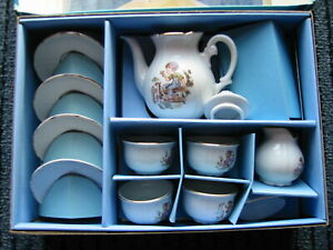 Spielzeug 70er Kinder Kaffee Service aus Porzellanmanufaktur in Thüringen