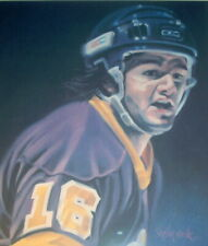 MARCEL DIONNE KINGS OFFSET LITHOGRAPH PRINT 1981 SHEILA WOLK - SIGNED 18 / 27