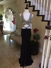$699 NWT BLACK JOVANI PROM/PAGEANT/FORMAL DRESS/GOWN #CB23962 SIZE 4
