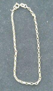 """9 carat gold 375 belcher chain bracelet 7.5"""" hallmarked"""