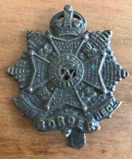 RARE GENUINE WW1 WWII THE BORDER REGIMENT CAP BADGE BERET