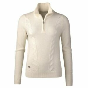 DAILY SPORTS 'CATTIE' LINED SWEATER  size SMALL colour  IVORY