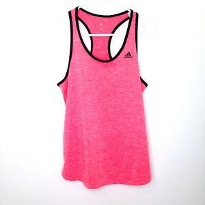 Adidas Loose Tank Top Womens Small Pink Black Racerback Running Yoga