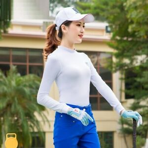 Women Golf Underwear Long Sleeves Shirts Autumn Warm Winter Run Golf Base Shirt