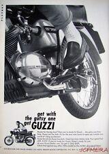 Vintage 1966 MOTO GUZZI '125cc Sport' Motor Cycle ADVERT - Original Print Ad