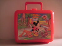 Mickey Mouse & Pluto Lunchbox with Thermos! (Used) Walt Disney!