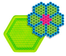 """Small Hexagon Pegboard for Perler fuse beads 3.37"""" x 3"""" - NEW"""