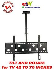 "42"" to 70"" CEILING TV MOUNT LCD LED PLASMA 47 49 50 51 52 55 60 62 65 67 rotate"