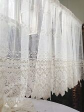 Beautiful Filet Lace Flower Cotton Thread Embroidery Cutwork Curtain Trim