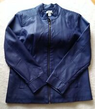 Christopher Banks - Faux Leather Woman Women Jacket Coat Blazer - Purple Size L