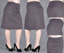 NWT Stretch Denim Middle Length Skirt XS to 3XL, Various Design