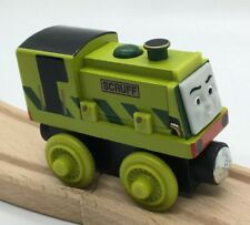 Thomas Wooden Railway Scruff MINT Retired Train Set Engine Car Toy Green Wood