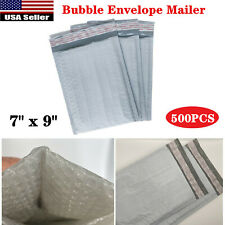 500pc 7x 9 Poly Bubble Mailers Shipping Envelopes Bag Thickened Self Sealing Us