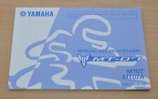 YAMAHA MT-07 MT07 MT07A Manual del Propietario Spanisch Bedienungsanleitung 2014