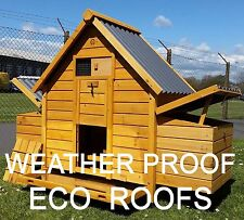 Eco 6002n Chicken Coop Hen House Poultry Ark Rabbit Hutch Run Large Plastic