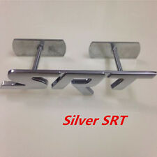 SRT 3D Metal Silver Logo Badge Emblem For Dodge Car Racing Grille Decals Emblem