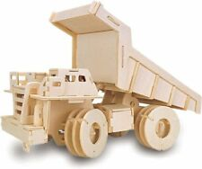 Dump Truck: Woodcraft Quay Construction Wooden 3D Model Kit P307 Age 7 plus