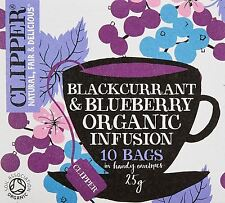 Clipper Tea Bags Organic Blackcurrant And Blueberry Infusion 10 Bags