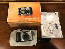 Canon PowerShot A650 IS 12.1MP Digital Camera - Silver & Black - Non Smoking Env