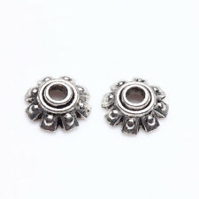 100Pcs Tibet Silver Alloy Flower Spacer Bead Caps Jewelry Findings DIY 8x3mm