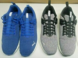 Lot Of 2 Pairs- Puma Nrgy Knit Training Mens Shoes /Sneakers Size 12 Blue & Grey