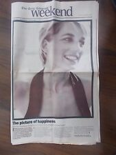VINTAGE NEWSPAPER TELEGRAPH WEEKEND SEPTEMBER 6th 1997 LADY DIANA TRIBUTE