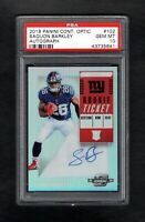 2018 Panini Contenders Optic #102 SAQUON BARKLEY RC Rookie Auto PSA 10 Gem Mint