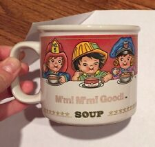 1993 Campbell's Soup Kids MUG by West Wood Fireman Policeman Nurse Doctor, etc..