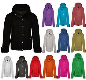 New Womens Ladies Girls Fleece Hooded Coat Jacket All Sizes Plus Sizes S-5XL