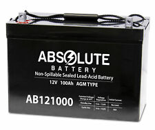 Absolute Battery AB121000 12V 100AH Sealed Lead Acid Battery