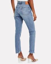 NWT Levi's Premium 501 Skinny Jeans Light Medium Wash Blue Mark Free People