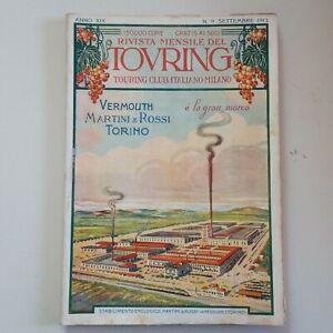 RIVISTA MENSILE TOURING CLUB ITALIANO N 9 Settembre 1913 Anno XIX