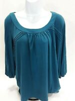 Women's Large Blue Investments Knit Top