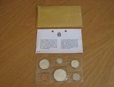 1965 Canadian Uncirc. Mint Set - 6 Coins + Original Mint Env & Paperwork