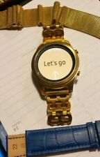 24K GOLD Plated Samsung Gear S3 Classic Smart Watch w Lots of Bands CUSTOM