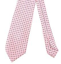 E. Marinella Light Pink Repp Twill Blue Floret Macclesfield Printed Silk Tie