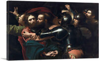 The Taking of Christ - The Betrayal of Christ Canvas Art Print by Caravaggio