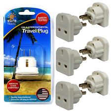 Sure Travel 3 Pin UK to US/ASIA Adaptor Family Pack, 6 x Power Convertor Plugs