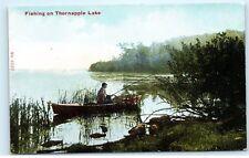 Musky Fishing on Thornapple Lake Barry County Michigan MI Vintage Postcard B21