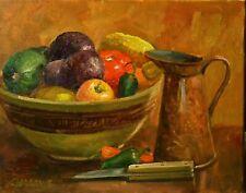 Framed Still Life Squash Original Oil Painting Impressionism Alla Prima Sallows
