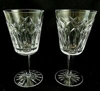 "Vintage PATRICK by Waterford Crystal WATER GOBLET Glasses 7"" - Set of 2 Old Font"