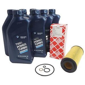 febi Ölfilter + 7L BMW Motoröl Ölwechsel für BMW E46 E90 E60 3er 5er 26704