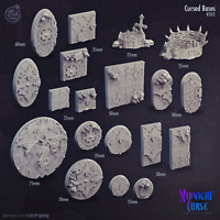 Cursed Bases, Gothic Bases 3D Miniature Model for DND RPG Tabletop games