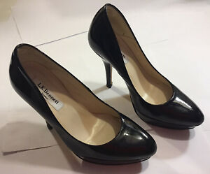 L.K.Bennett London Ladies Black Patent Leather Court Shoes Size 35 rrp £195