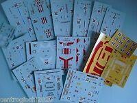 DECALS 1/43 set di 10 decals FERRARI 512 BB LE MANS-DAYTONA