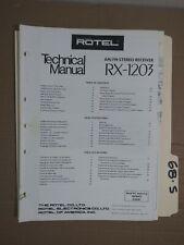 Rotel rx-1203 technical service manual original repair book stereo receiver
