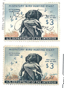 USA   RW 26 DUCK STAMPS USED  1959-60  SC E3