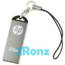 HP v220w 32GB 32G USB Flash Drive Memory Disk Stick Capless Thumb Mirror Metal